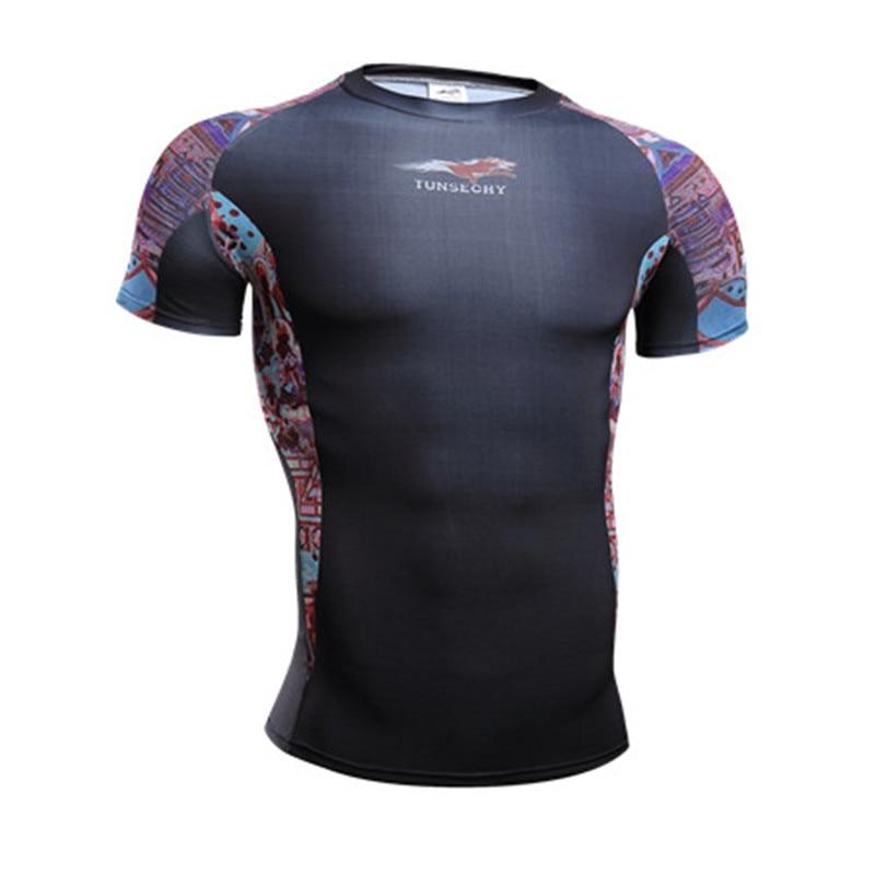 New Arrival martin Brand tights short sleeve T-shirt Mens wear round collar short sleeve bike jerseys digital bikeing T-shirt W