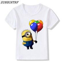 c5fedf125 Minions camiseta del cabrito Niños Niñas verano manga corta Funny graphic  impreso kawaii camiseta niños camiseta ropa de marca