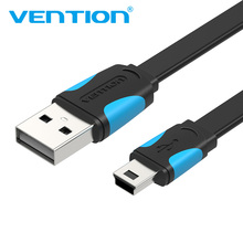 Vention mini usb cable 0.5m 1m 1.5m 2m mini usb to usb data charger cable for cellular phone MP3 MP4 GPS Camera HDD Mobile Phone mini 25cm usb to usb 2 0 data sync charger male to male cable 90 degree angled mini usb cable for mobile phone mp3 mp4 camera