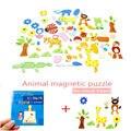 4 estilos Animal/Granja/Bosque/figura de Dibujos Animados De Madera Rompecabezas Magnético Juguetes Educativos Multifuncionales Rompecabezas de juguete para Niños niños