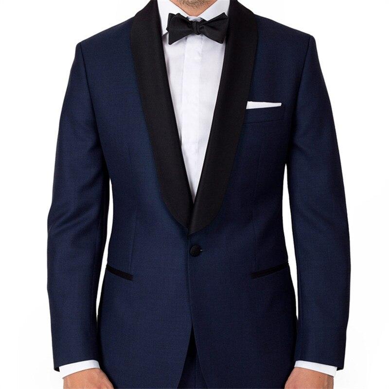 2018 Maß Marineblau Hochzeit Männer Anzug 2 Stück (jacke + Hose + Krawatte) Terno Masculino Bräutigam Prom Trajes De Hombre Blazer 99 NüTzlich FüR äTherisches Medulla