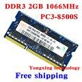 Пожизненная гарантия для hynix DDR3 2 ГБ 4 ГБ 1066 мГц PC3-8500S оригинальной аутентичной DDR 3 2 г портативный ноутбук памяти RAM 204PIN SODIMM