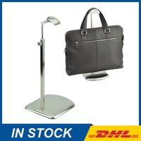 Brushed Silver Bag Hanger Stand, Hanging Bag Display Stand Wholesale, Hooks For Handbag Bag Stand Rack