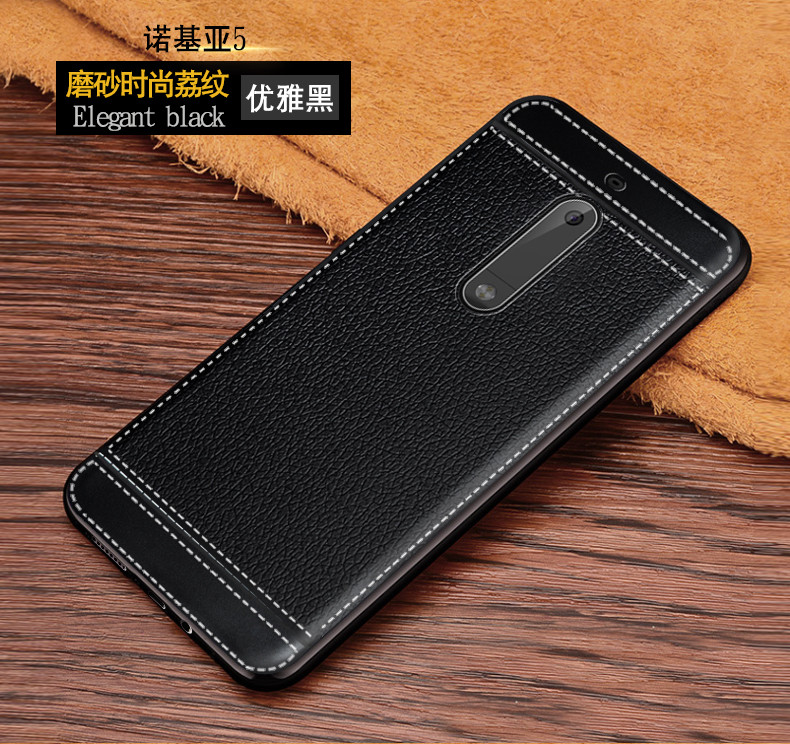 Leather Case for <font><b>Nokia</b></font> 5 Global Dual TA-1024 TA-1044 TA-<font><b>1053</b></font> Phone Bumper Fitted Case for Nokia5 TA 1024 1044 <font><b>1053</b></font> Soft Cases image