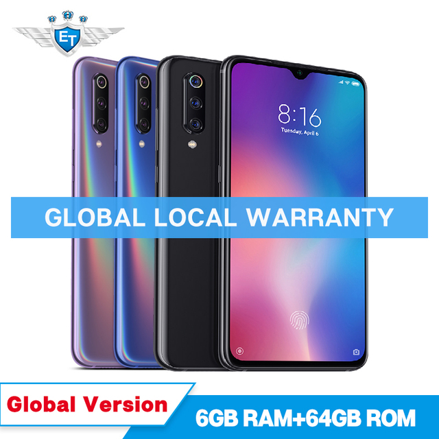 Global Version Xiaomi Mi 9 Mi9 6GB 64GB 48MP Triple Camera Snapdragon 855 6.39'' Mobile Phone In Display Fingerprint