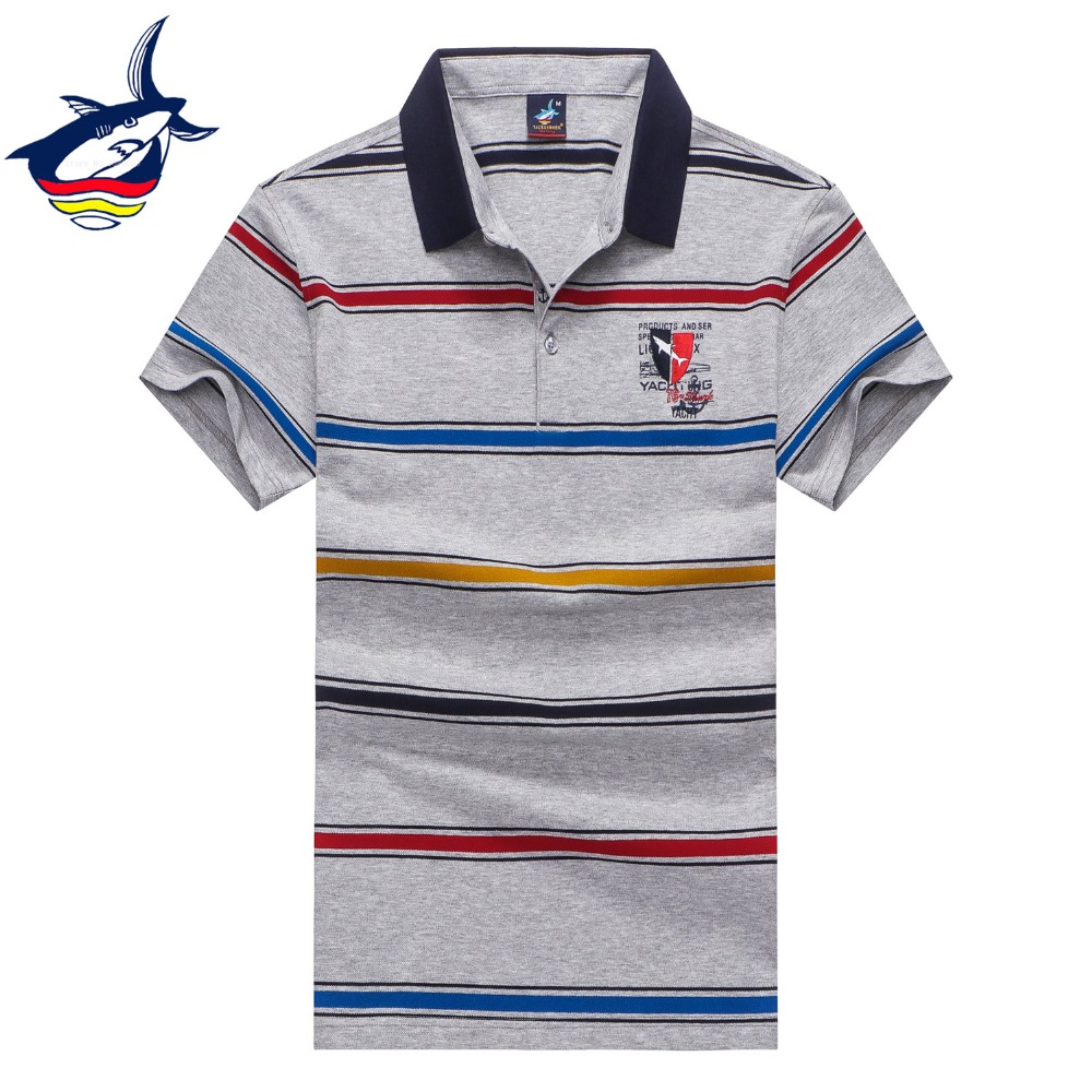 Striped polo shirts man business casual high quality brand Tace & Shark polos para hombre Summer menswear 2019 tee shirt homme