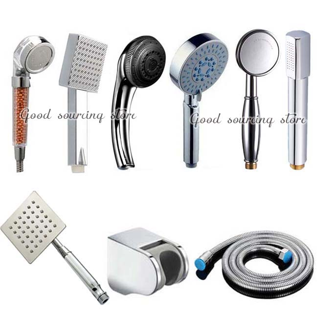 bathroom shower faucet accessory (shower holder + shower head + shower hose)