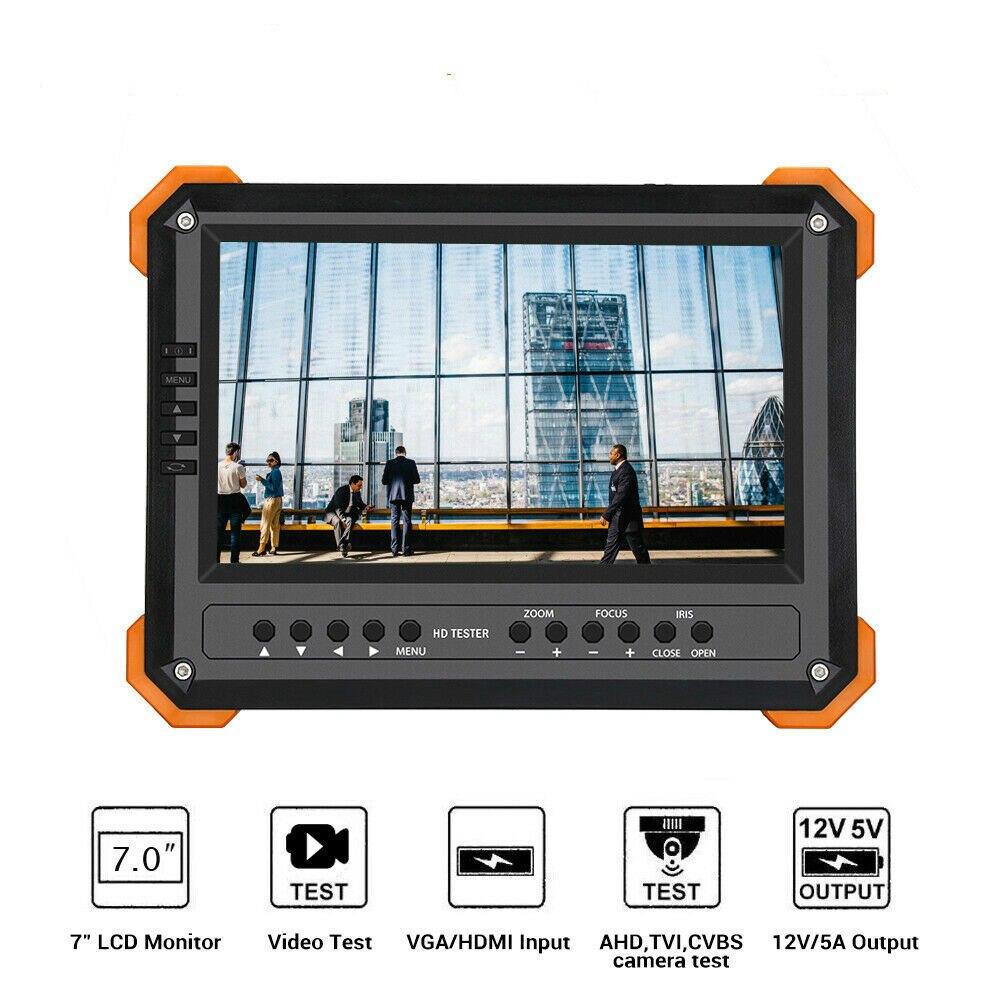 Moniteur de testeur de vidéosurveillance 7 pouces 4 K 1080 P IPC caméra CVBS écran tactile analogique avec POE HDMI ONVIF WIFI testeur de caméra ip