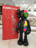 16 Inch Originalfake KAWS Dissected Companion Figure With Original Box 37cm KAWS Action Figure model best gift