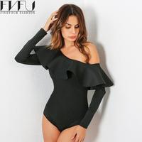 Fashion 2017 Bodysuit Women Jumpsuit Playsuit Solid Color Summer Rompers Women Jumpsuit Off One Shoulder Casual