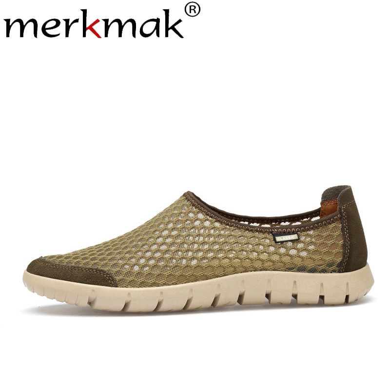Merkmak Men's Shoes Men Loafers Flats Spring Slip On Comfortable Big-Size Casual Summer