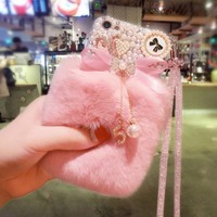 Real Rex Rabbit Hair Genuine Fur Funda Case Coque For Samsung J7 J5 J3 J2 2015