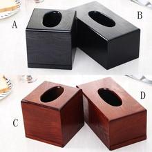 Бытовая коробка для салфеток, модный практичный из дерева, тканевая одноцветная настольная коробка для хранения в гостиной, коробка для хранения салфеток черного и коричневого цветов