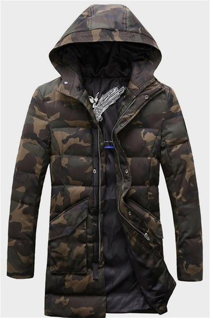 2015 Los Nuevos Hombres Espesar Delgado Militar Con Capucha coat Mianfu CMX 420