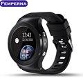 S99 femperna android 5.1 os smart watch suporte google voice gps mapa wifi bluetooth freqüência cardíaca telefone smartwatch para moto 360