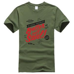 Image 4 - T shirt manches courtes hommes, vêtements de marque kpop, à la mode et humoristique, mieux Call Saul imprimées, estival