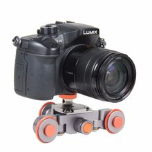 Fleksibel Mini Listrik Video Dolly 3 Roda Pulley Mobil Rail Rolling Track Slider Skater Dolly untuk Canon Nikon Sony kamera DSLR(China)