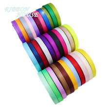 (25 yards/roll) 10mm Single Face Satin Ribbon Webbing Decaration Gift Christmas Ribbons(China)