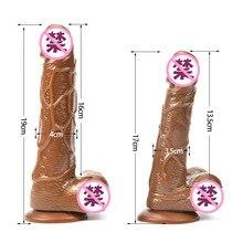 Секс Инструменты для Лидер продаж 3 цвета 2 размер большой мужской Искусственная резина пенис огромный лошадь фаллоимитаторы реалистичные Дик пикантные секс-игрушки для женщин.