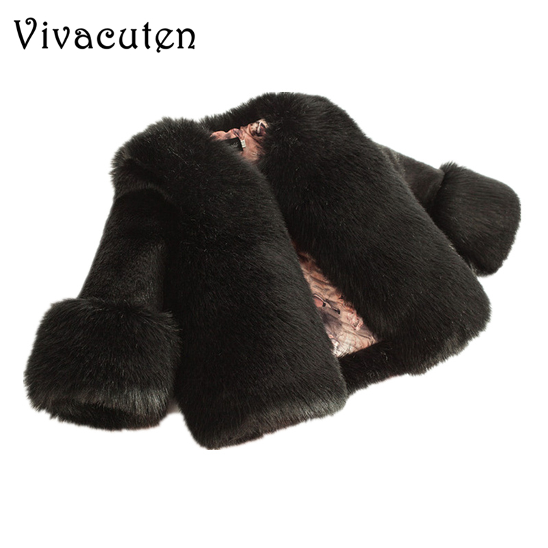 Winter Girls Fur Thickening Coat Elegant Baby Girl Faux Fur Jackets Child Snow Coats Thick Warm Parka Boutique Toddlers Clothes