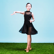 Fashion Sleeveless lace Latin dance one-piece dresse for little girl/children, Tango ballroom costume performance wear G3046