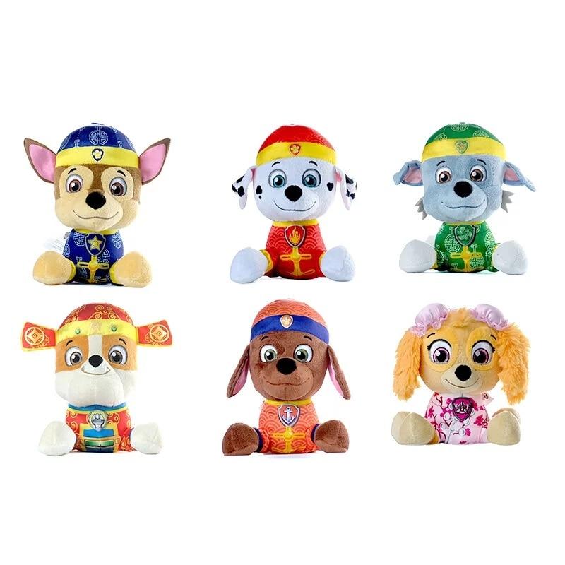 Paw Patrol Dog Stuffed Animals Marshall Chase Skye Rockey Rubble Zuma Plush Doll Model Action Figure Plush Toy Kids Toy Gift
