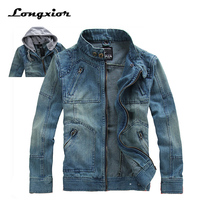 2017 New Men S Casual Denim Jackets Hoodies Autumn Overcoat Outwear Winter Jeans Jacket Men Men
