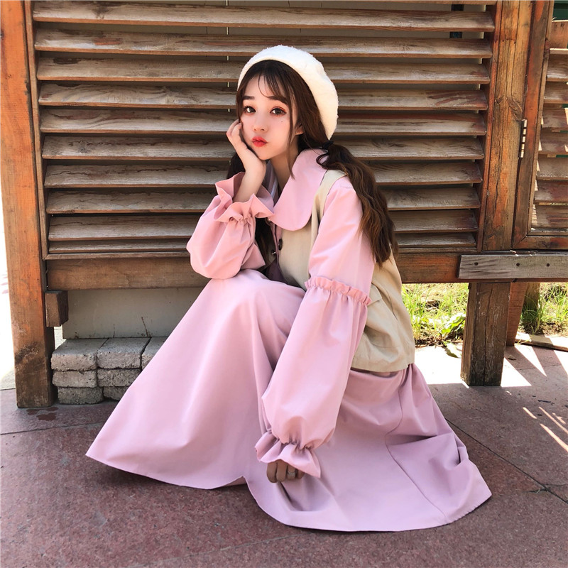 Sweet Womens Vintage Blouse Delicate Cute Peter Pan Collar Long Sleeve Shirt Tops 2019 Spring Women Fashion Japanese Girl Style Blouses & Shirts