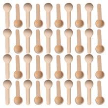 Mini cuillères en bois, Mini Nature, 50/100/200/500, cuisine à domicile outil, Scooper assaisonnement au sel, cuillères à café miel