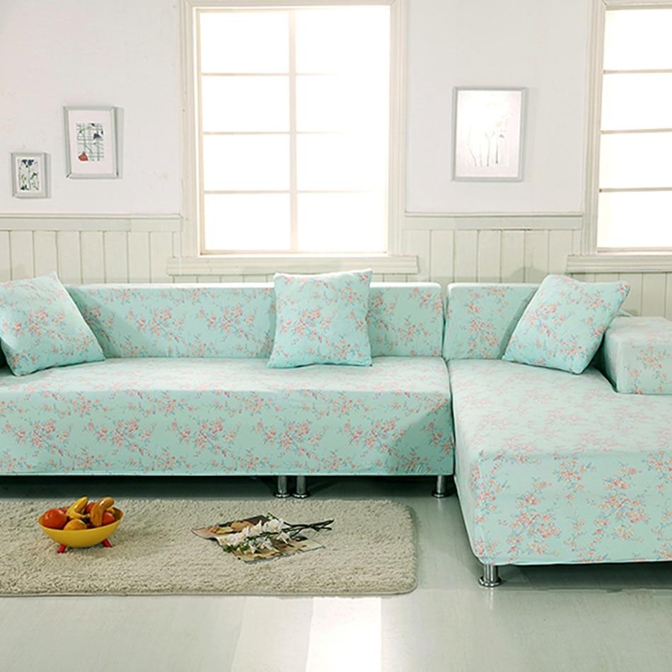 light green flowers l shape sofa covers 2pcs cushion cover 100 polyester 2pcs corner sofa. Black Bedroom Furniture Sets. Home Design Ideas