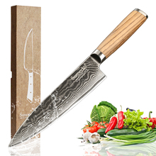 2016 Sunnecko 8 Chefs Knife 73 Layers Damascus Steel Kitchen Knives Japanese VG10 Sharp Blade Meat Cutter Original Wood Handle