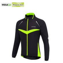 WOSAWE Windproof Waterproof Cycling jacket Long Sleeve Jersey Winter Autumn Warm Clothing Cycling Wear Reflective Bike Jackets