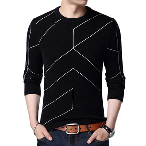 Image 5 - 2020 New Autumn Winter Fashion Brand Clothing Pullover Mens Sweaters O Neck Slim Fit Breathable Solid Color Sweaters For Men