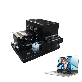 OYfame A4 Small size UV printer uv flatbed 6 colors printer for leather Phone case PVC Acrylic Wooden Metal with computer