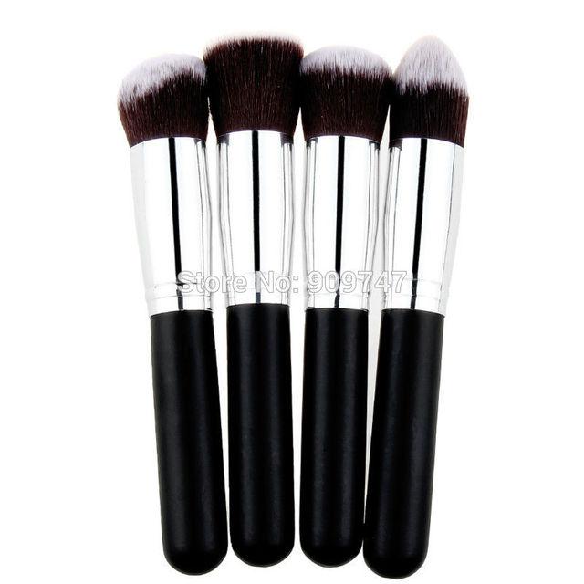 high quality 4 pcs/lot Synthetic makeup Brush single makeup tool Cosmetic brush kits,Drop