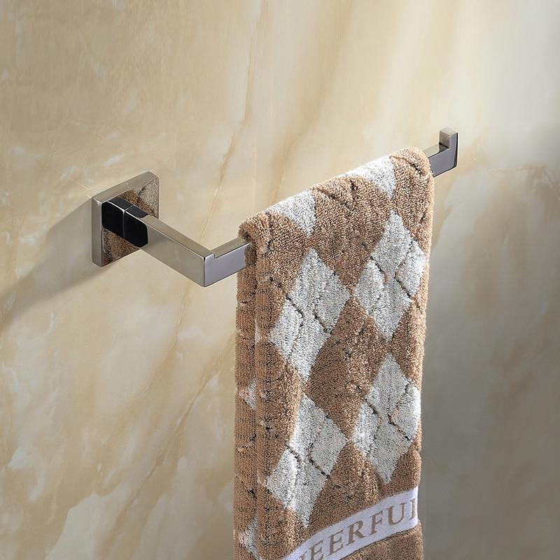 Modern Stainless Steel Silver Single Towel Bar Holder Smooth Mirror Surface Towel Rack Wall Mounted Bathroom Hardware