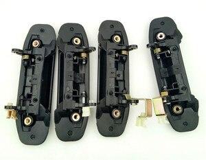 Image 4 - Manija de puerta exterior delantera y trasera de coche, juego completo, color negro, para Mitsubishi Pajero, Montero, V31, V32, V33, V43, V46, V47, 4 Uds.