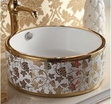 Туалетная комната европейского типа Керамическая раковина для