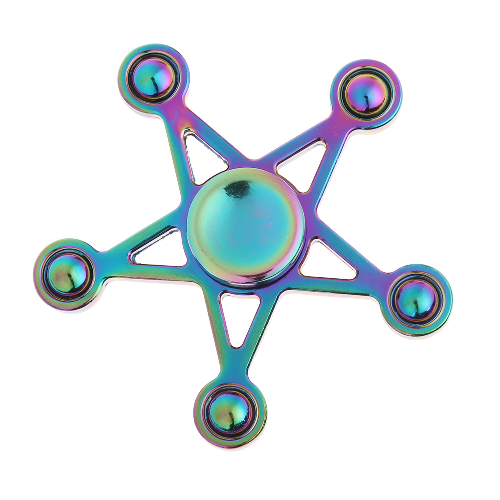 Pentagon Finger Fidget Spinner Metal Colorful Hand Spinner For Kids EDC Autism ADHD Anxiety Anti Stress Handspinner Toys fidget hand spinner brass metal edc finger spinner anti stress hand spinner for autism adhd toys gift spinning top