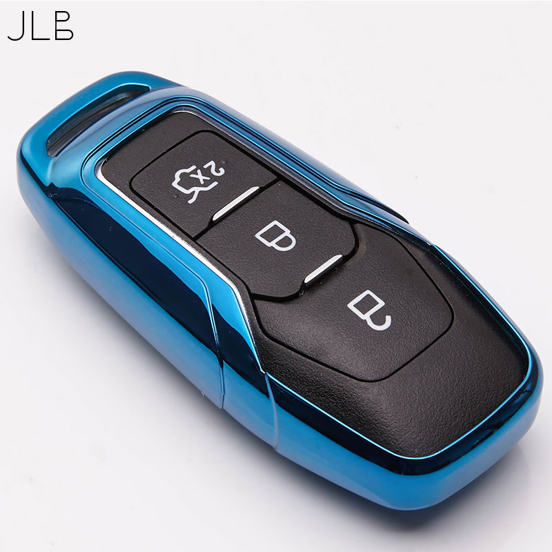 JLB Remote Car Key Case for <font><b>Ford</b></font> Fiesta Focus 3 4 MK3 MK4 Mondeo Ecosport Kuga Focus <font><b>ST</b></font> <font><b>Keyring</b></font> image
