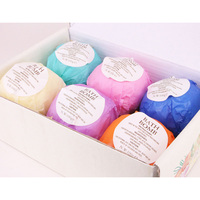 6pcs Bath Salts Bombs Ball Body Scrub Whitening Moisture SPA Valentines Day Gift OA66
