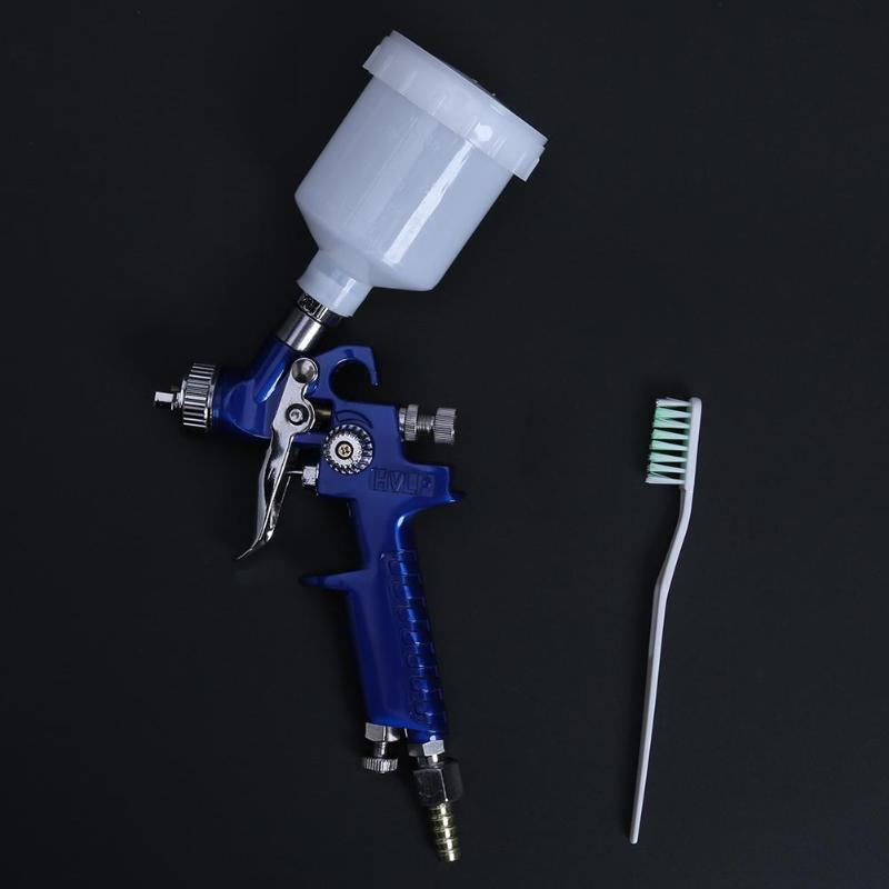 Image 2 - Professional 0.8MM/1.0MM Nozzle H 2000 Mini Air Paint Spray Gun Airbrush HVLP Spray Gun for Painting Car Aerograph Airbrush-in Spray Guns from Tools on