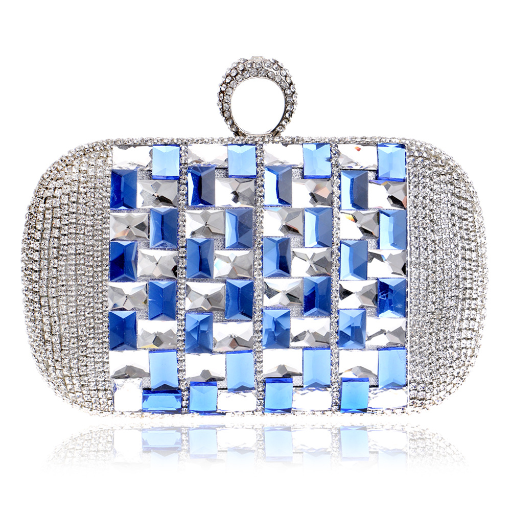 Crystal Clutch with Shining Rhinestone for Women, Elegant Evening Bag for Wedding elegant shining crystal alloy bracelet
