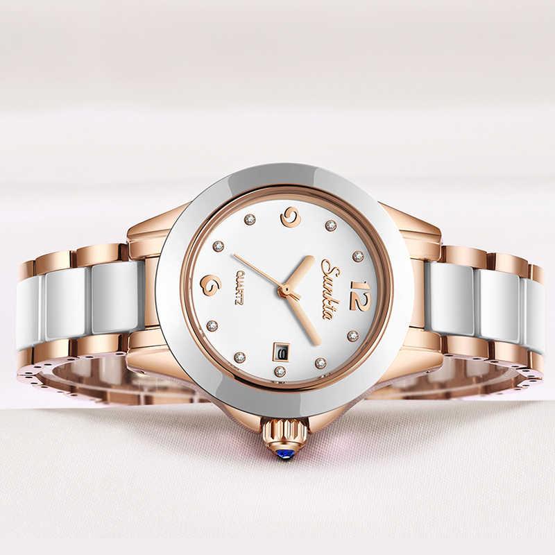 2019New SUNKTA نساء ساعات العلامة التجارية الفاخرة مقاوم للماء السيدات ساعة الفولاذ المقاوم للصدأ للنساء فساتين راقية ساعة Relogio Feminino
