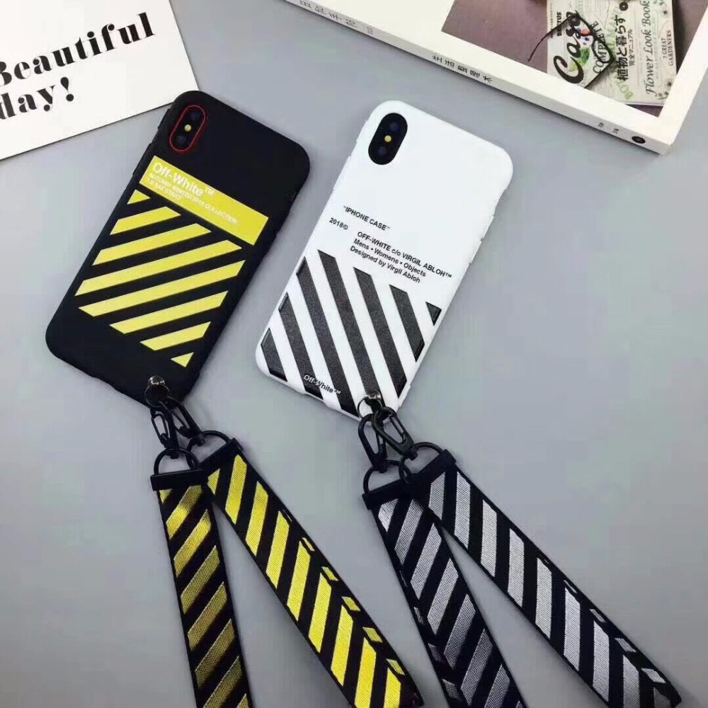 5 mais OFF WHITE Zebra Macio TPU Caso Para iphone 7 plus 7 Doces macios TPU shell para o iphone 6 7 plus 8 x casos de volta caso capa
