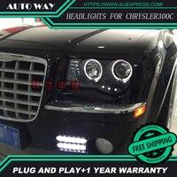 Car Styling Head Lamp For Chrysler 300C Chrysler300C Headlights LED Headlight DRL Daytime Running Light Bi