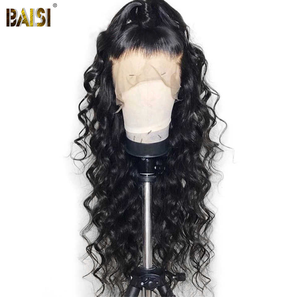 BAISI Hair Brazilian Hair Natural Wave 13X6 Lace Front Wigs with Pre-Plucked Nature Hairline 100% Human Hair