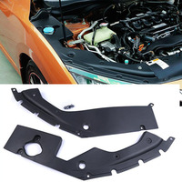 1Pair For Honda Civic 2016 2017 2018 10th Gen Engine Bay Side Panel Covers L+R Black Engine Bonnets Cover Parts