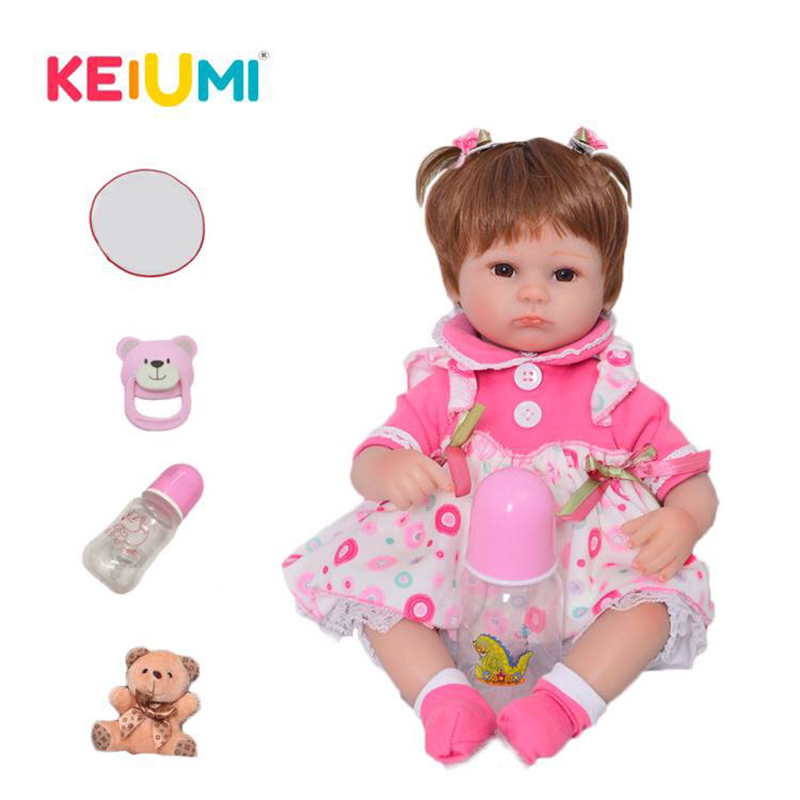 17 Collectible Soft Silicone Reborn Baby Dolls 43 cm Realistic Babies Reborn Menina Toy with blanket
