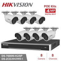 8Channels Hikvision POE NVR Video Surveillance Kits with 4MP IP Camera Netwerk Security Night Vision CCTV Security System Kits